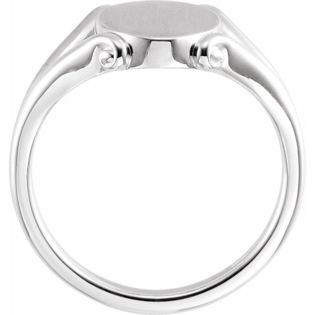 Sterling Silver 13x9 mm Oval Signet Ring