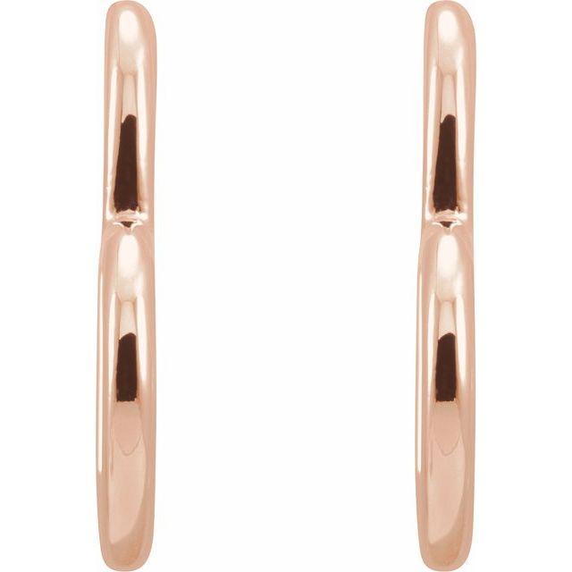 14K Rose Heart Hoop Earrings