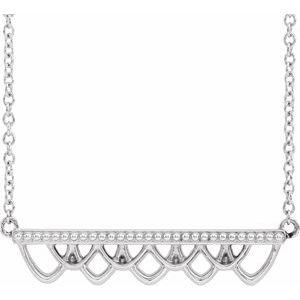"""Sterling Silver Vintage-Inspired Bar 18"""" Necklace"""