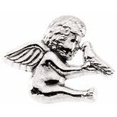 Cherub & Dove Lapel Pin