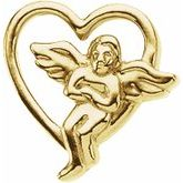 Heart & Angel Lapel Pin