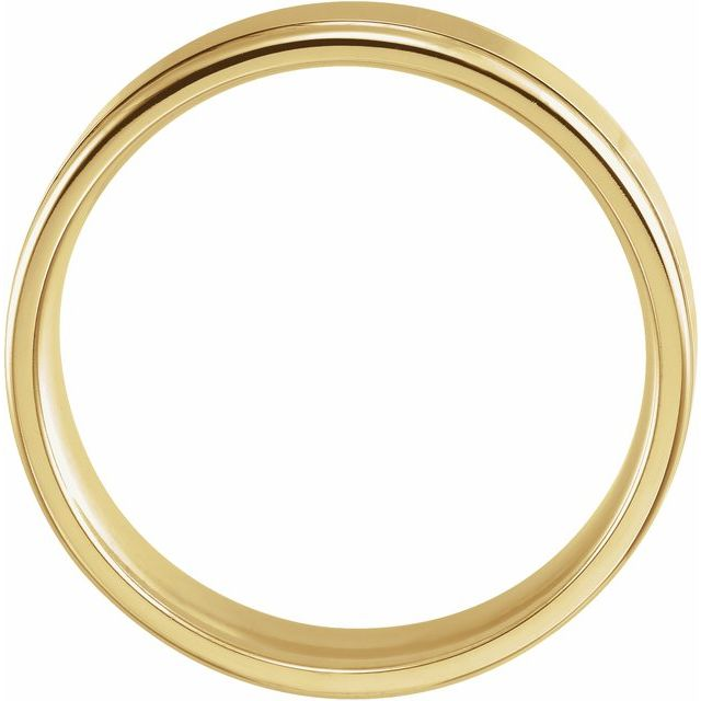14K Yellow 6 mm Grooved Band Size 11.5