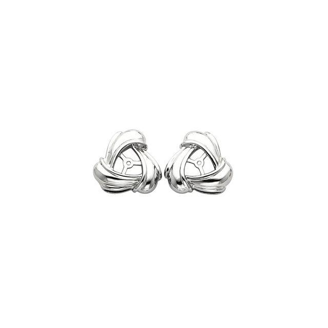 14K White 6.3 mm ID Earring Jackets