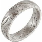 Damascus Steel Patterned Band