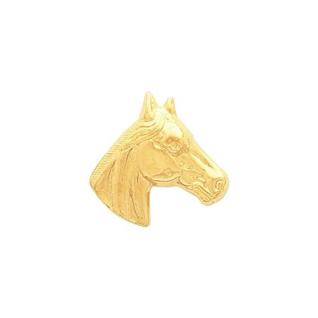 14K Yellow 23x23 mm Horse Head Pendant