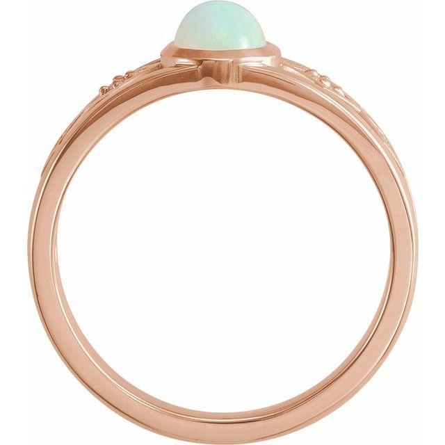 14K Rose Ethiopian Opal & .05 CTW Diamond Ring