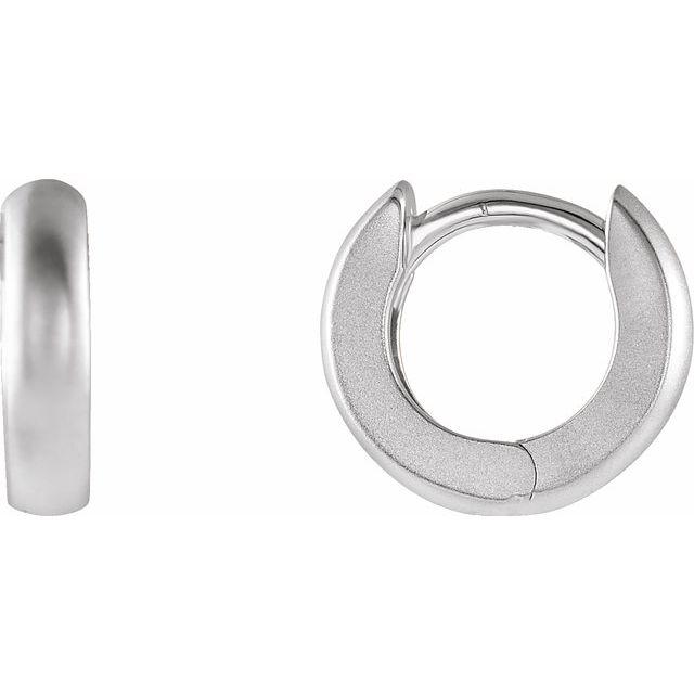 Sterling Silver 9.5 mm Huggies