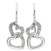 Accented Interlocking Heart Earrings