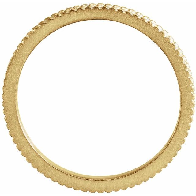 14K Yellow 1.5mm Beaded Band Size 7