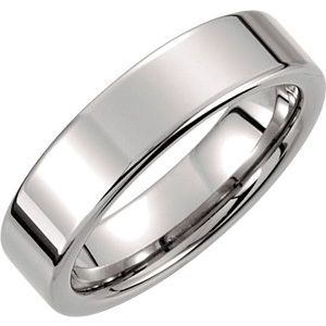 Tungsten 6 mm Flat Band Size 9