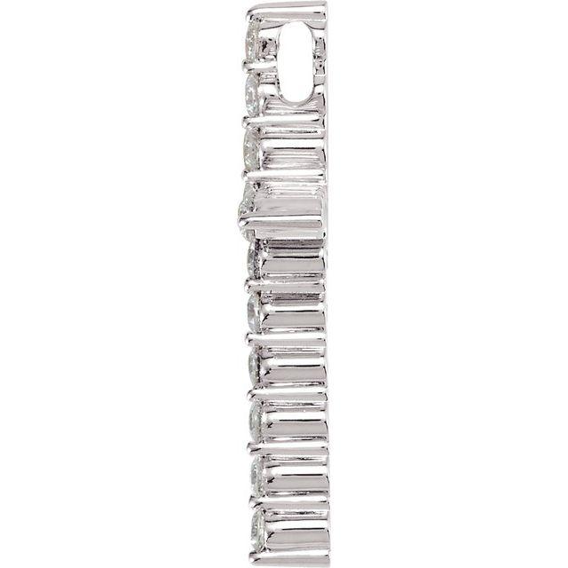 14K White 1/3 CTW Diamond Cross Pendant