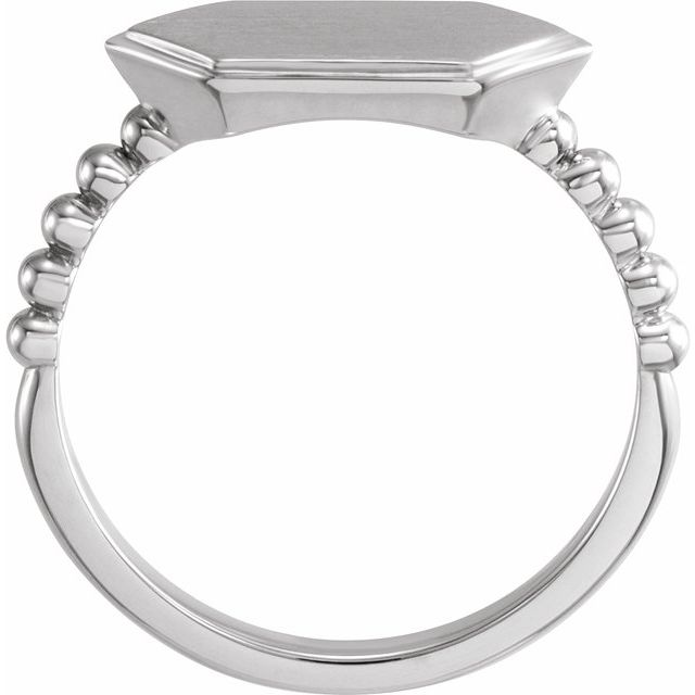 Sterling Silver 15x7 mm Geometric Signet Ring