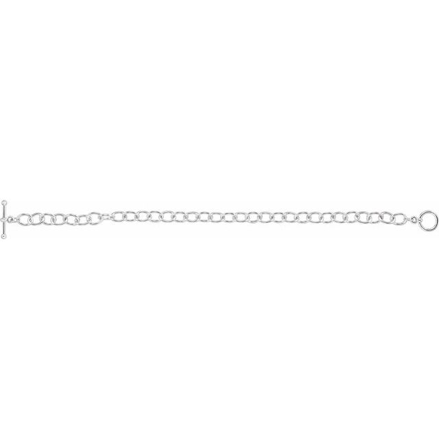 Sterling Silver 5.9 mm Cable 7 1/4