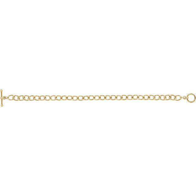 24K Yellow-Plated Sterling Silver 5.9 mm Cable 7 1/4