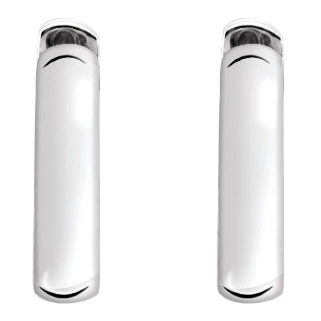 Sterling Silver 14 mm Hinged Earrings