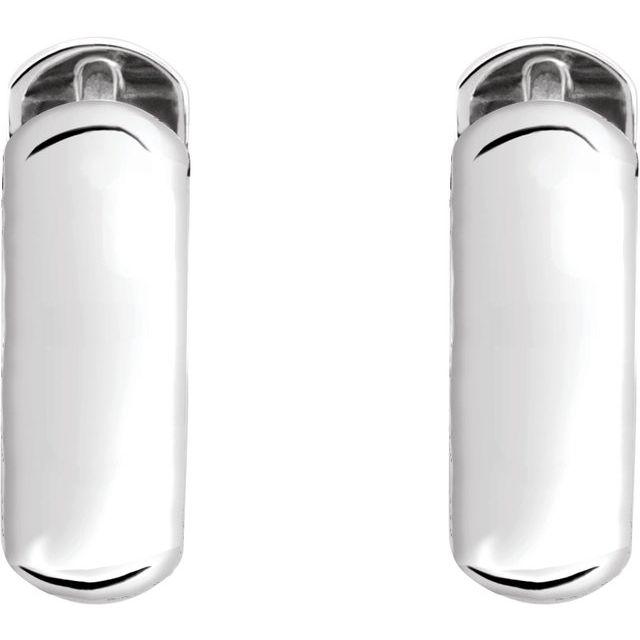 Sterling Silver 19 mm Hinged Hoop Earrings