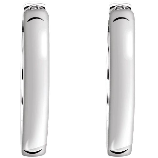 Sterling Silver 16 mm Hinged Hoop Earrings
