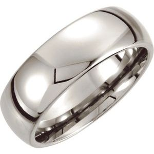Cobalt 8 mm Low Domed Band  Size 7.5