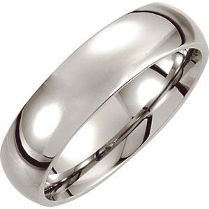 Cobalt 6 mm Low Domed Band Size 9