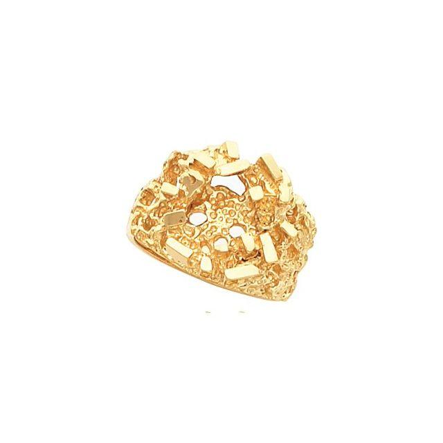 14K Yellow Nugget Ring Mounting