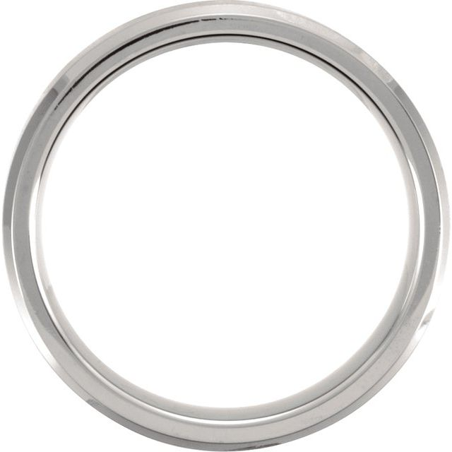 Titanium 7 mm Beveled Edge Band with Satin Finish Size 7