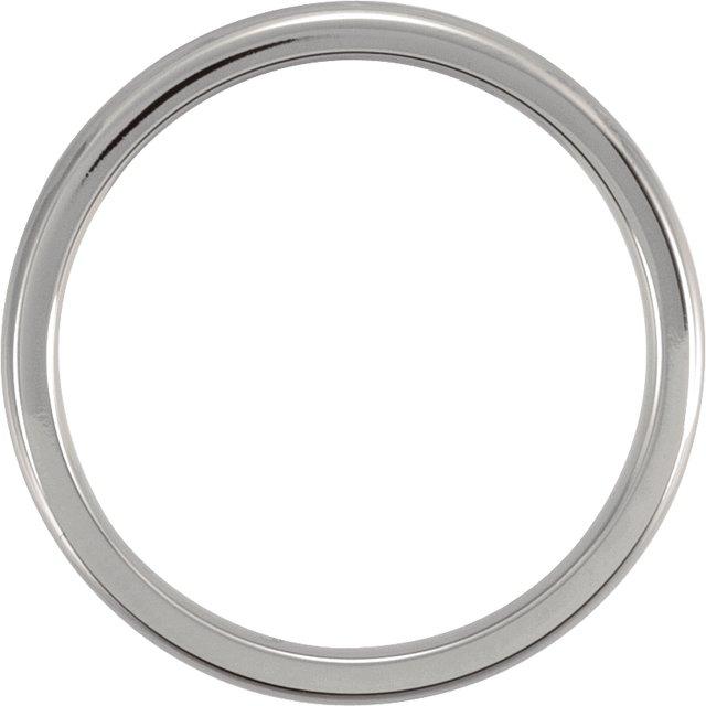 Titanium 3 mm Domed Polished Band Size 12