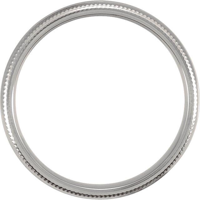 Titanium Double Milgrain Band Size 10