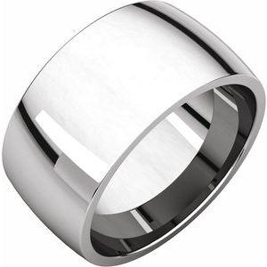 10K White 10 mm Half Round Comfort Fit Light Band Size 7