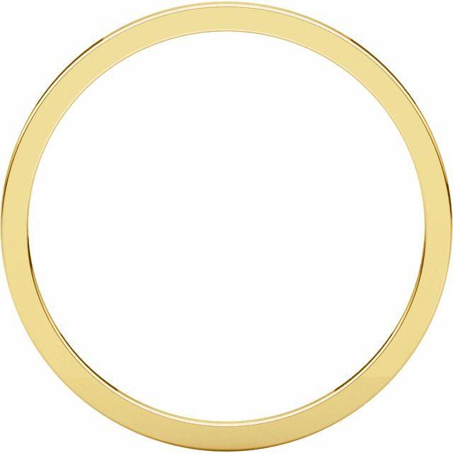 14K Yellow 1 mm Flat Band Size 9