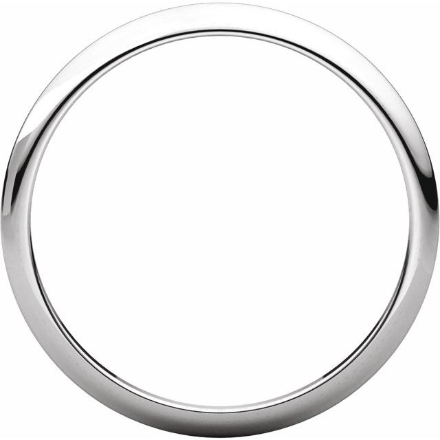 14K White 2.5 mm Half Round Tapered Band Size 6