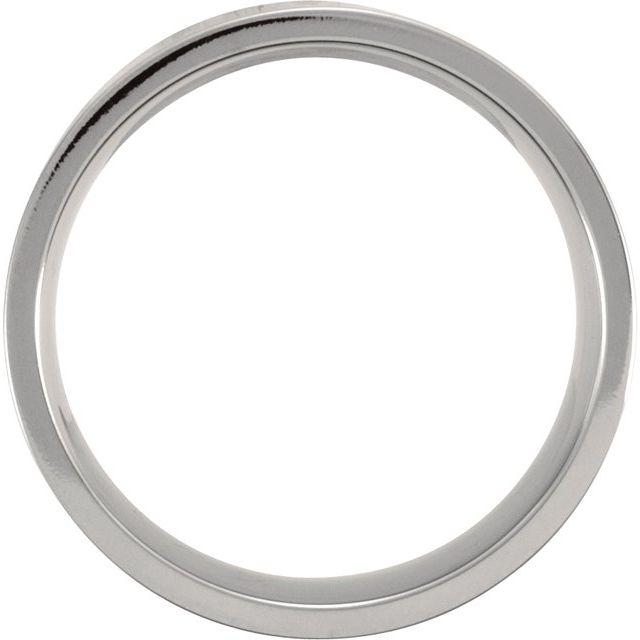Titanium 8 mm Flat Polished Band Size 8
