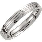 Titanium Triple Grooved Band