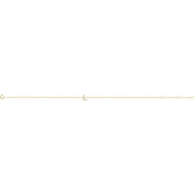 14K Yellow .04 CTW Diamond Initial L 6-7