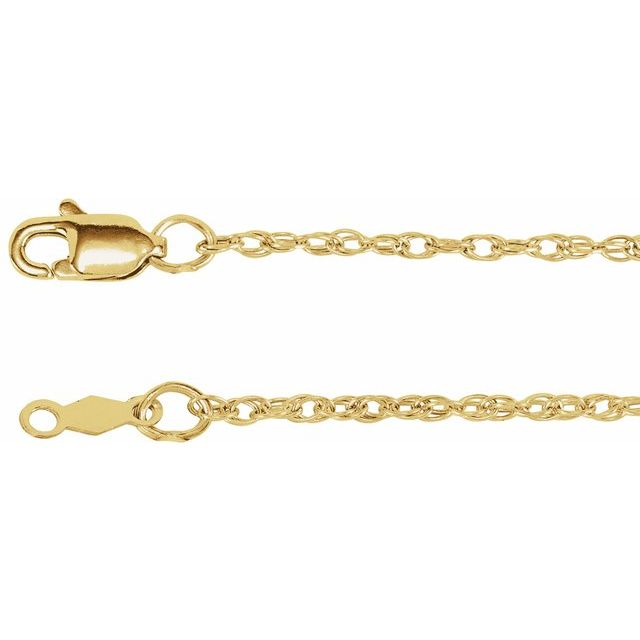 18K Yellow 1.5 mm Solid Rope 18