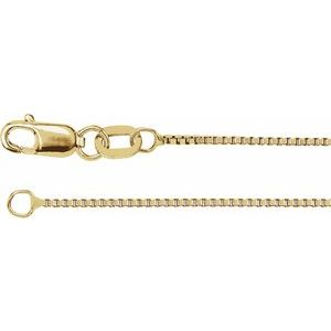 "14K Yellow .75 mm Box 18"" Chain"