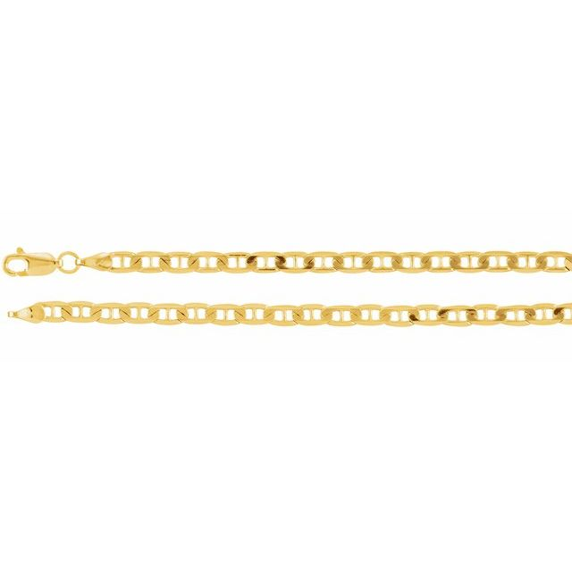 14K Yellow 3.7 mm Solid Anchor 20