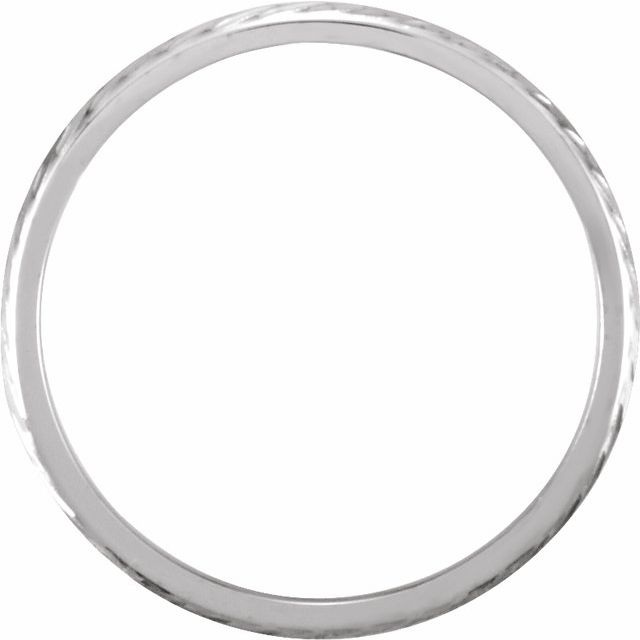 14K White Design-Engraved Band Size 10