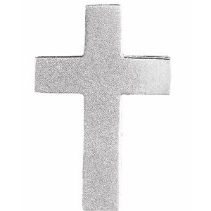 Sterling Silver 13.5x9 mm Scroll Cross Slide Pendant