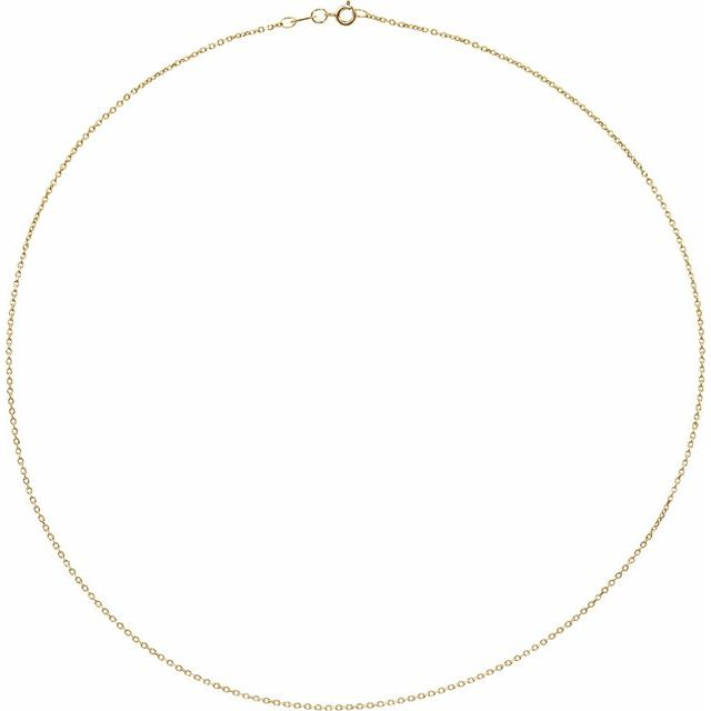 10K Yellow 1 mm Diamond-Cut Cable 18