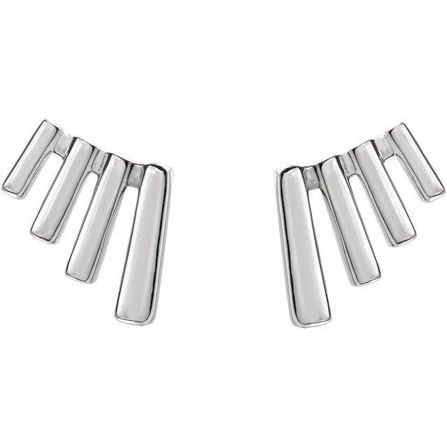 Sterling Silver Fan Ear Climbers