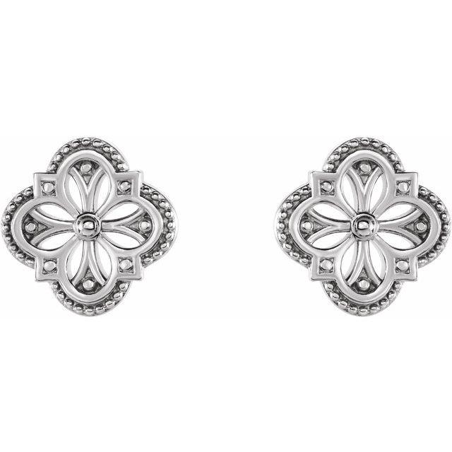 Sterling Silver Vintage-Inspired Clover Earrings