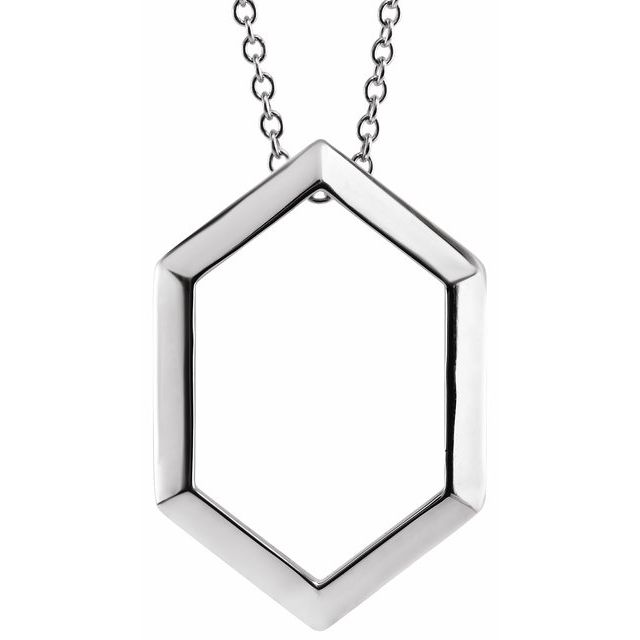 Sterling Silver Geometric 16-18