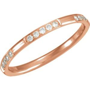 14K Rose 1/6 CTW Diamond Anniversary Band Size 6