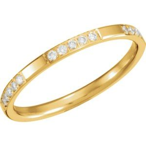 14K Yellow 1/6 CTW Diamond Anniversary Band Size 6