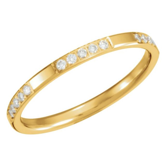 14K Yellow 1/6 CTW Diamond Anniversary Band Size 7