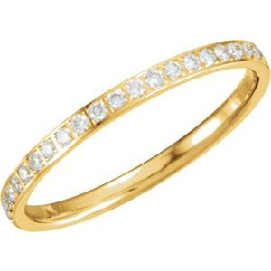 14K Yellow 1/4 CTW Diamond Anniversary Band Size 6