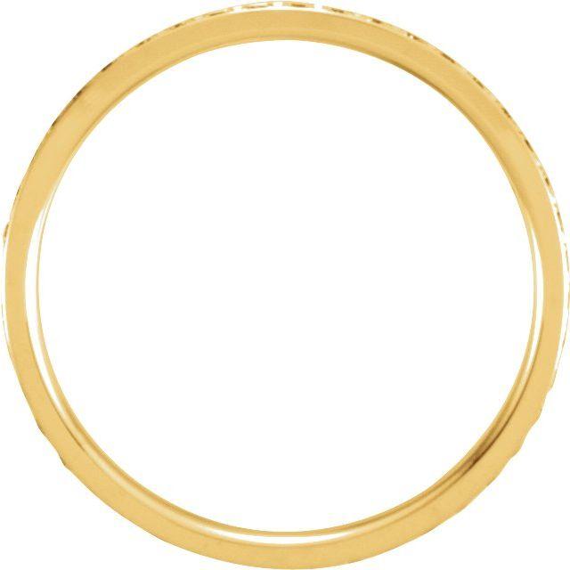 14K Yellow 3/8 CTW Diamond Eternity Band Size 8