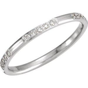 14K White 1/6 CTW Diamond Anniversary Band Size 6