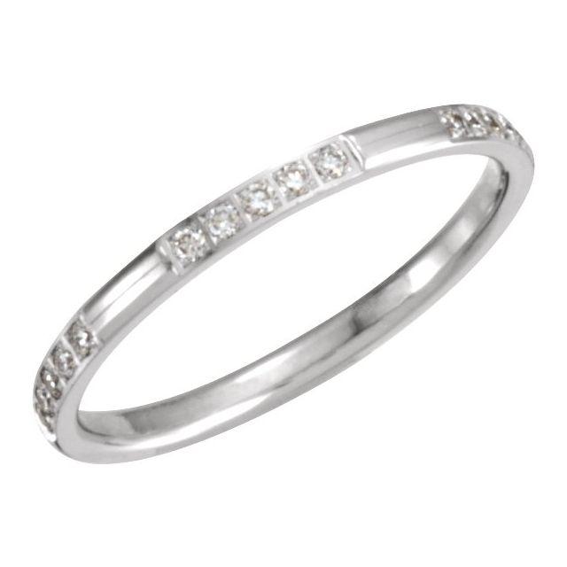 14K White 1/6 CTW Diamond Anniversary Band Size 5