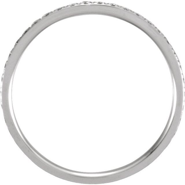 14K White 3/8 CTW Diamond Eternity Band Size 5